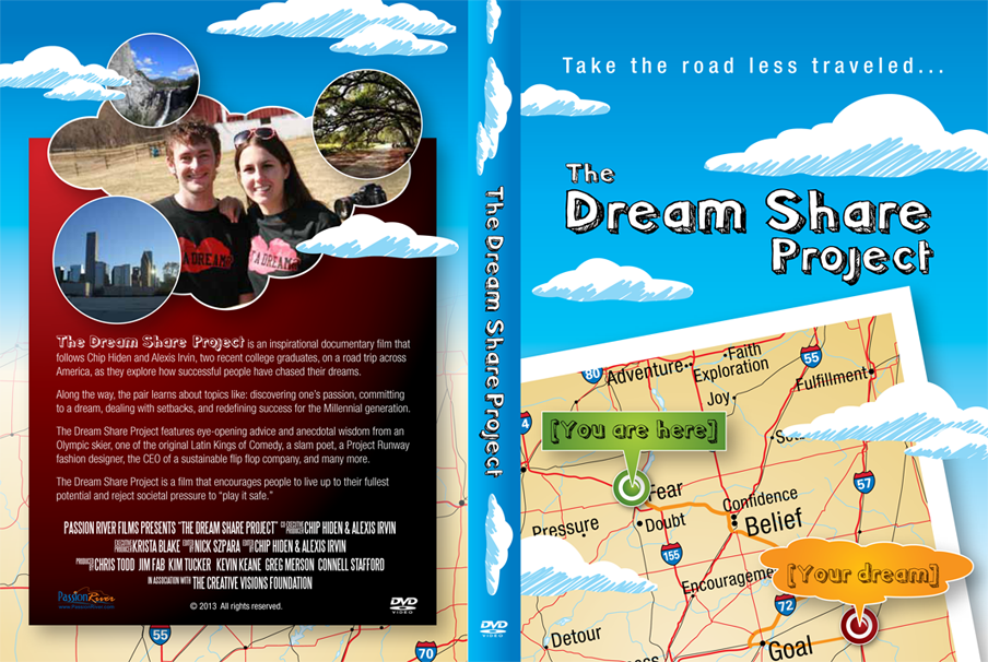 Dream Share Project DVD Wrap Map Cloud 3-9-13